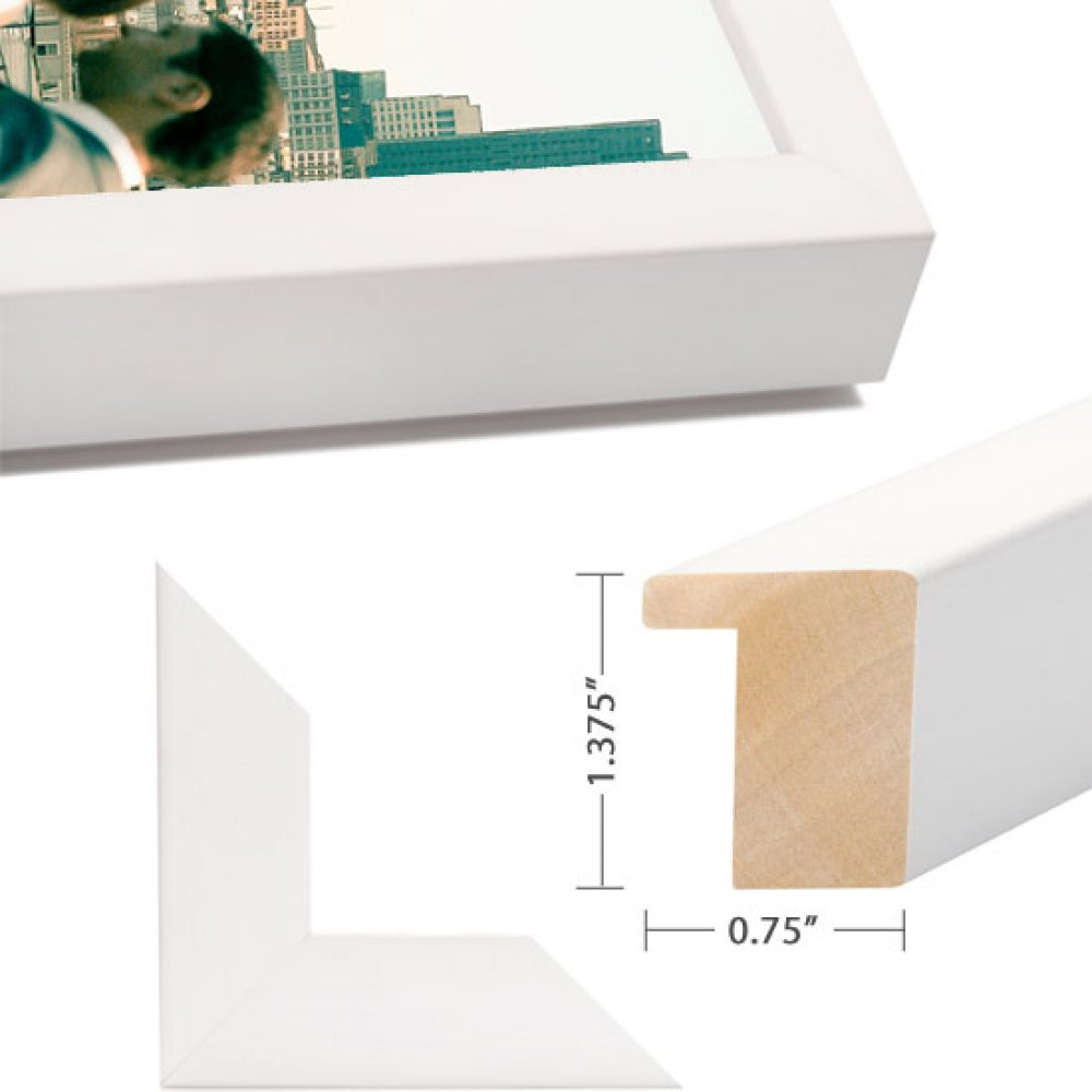 White Wood Box Frame