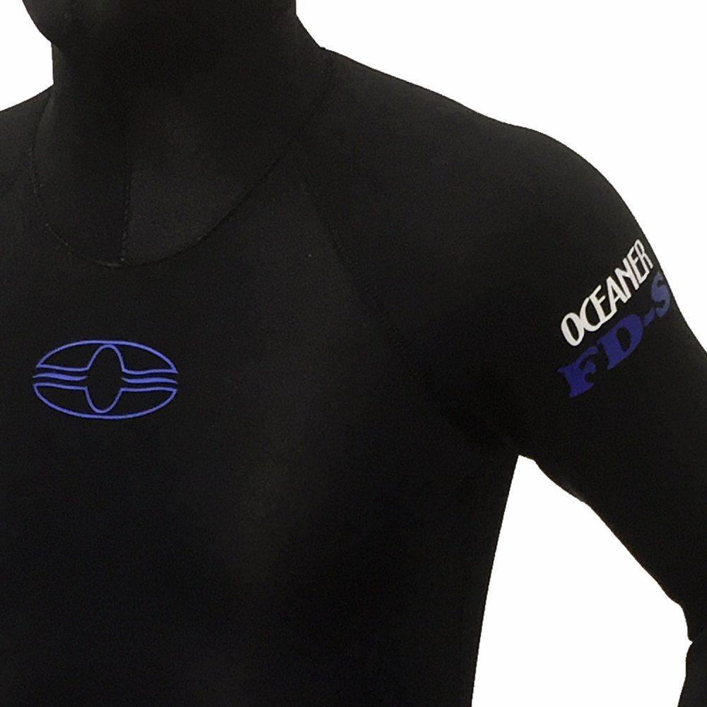 black freediving wetsuit