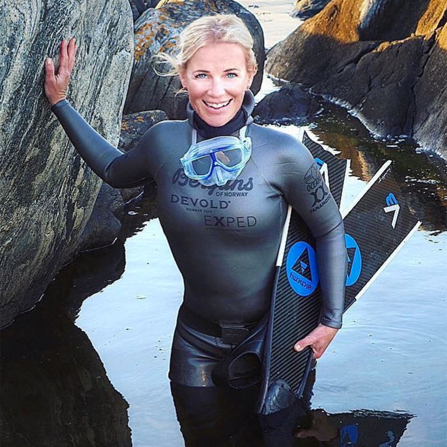 mom in a wetsuit