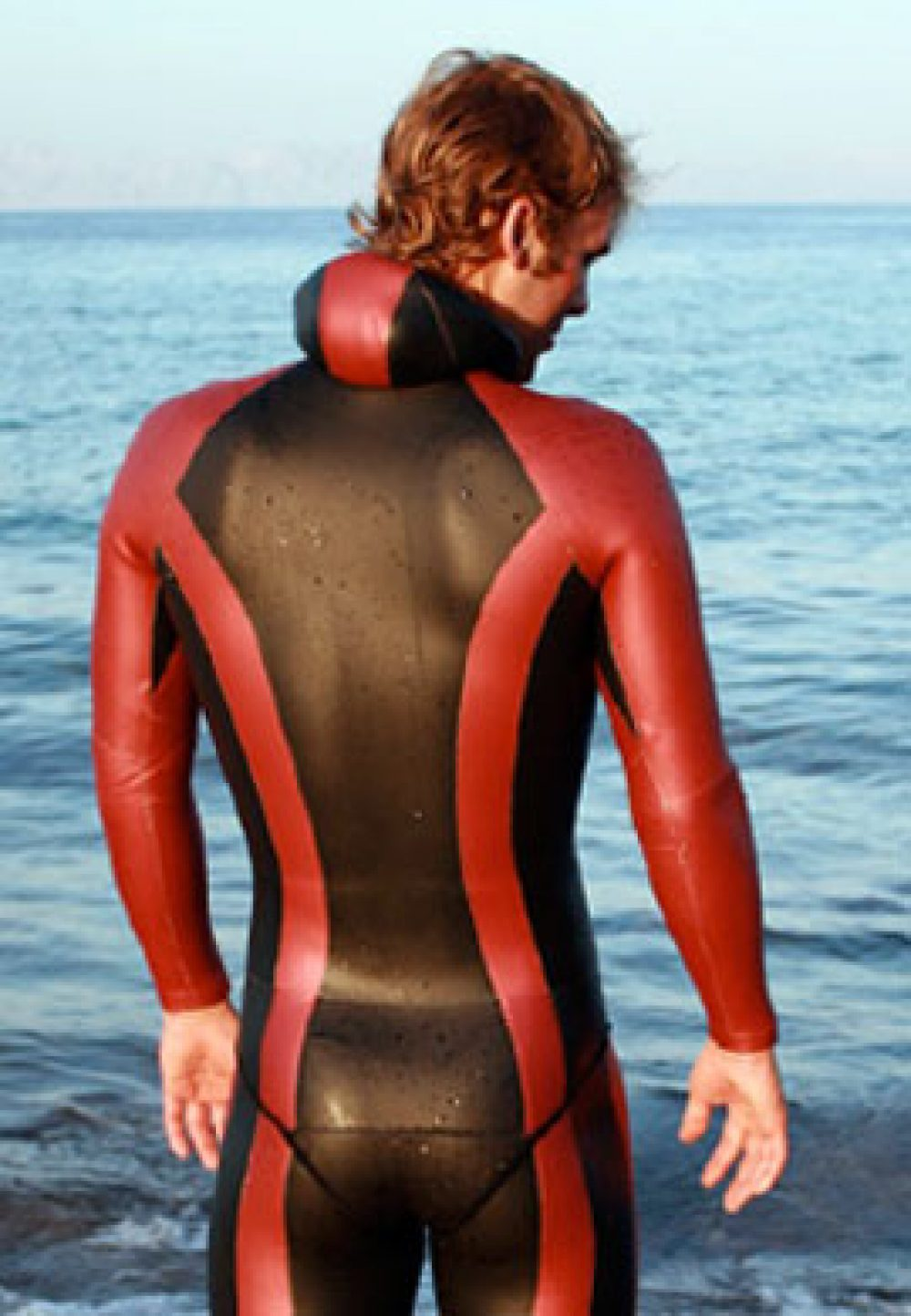 red freediving wetsuit