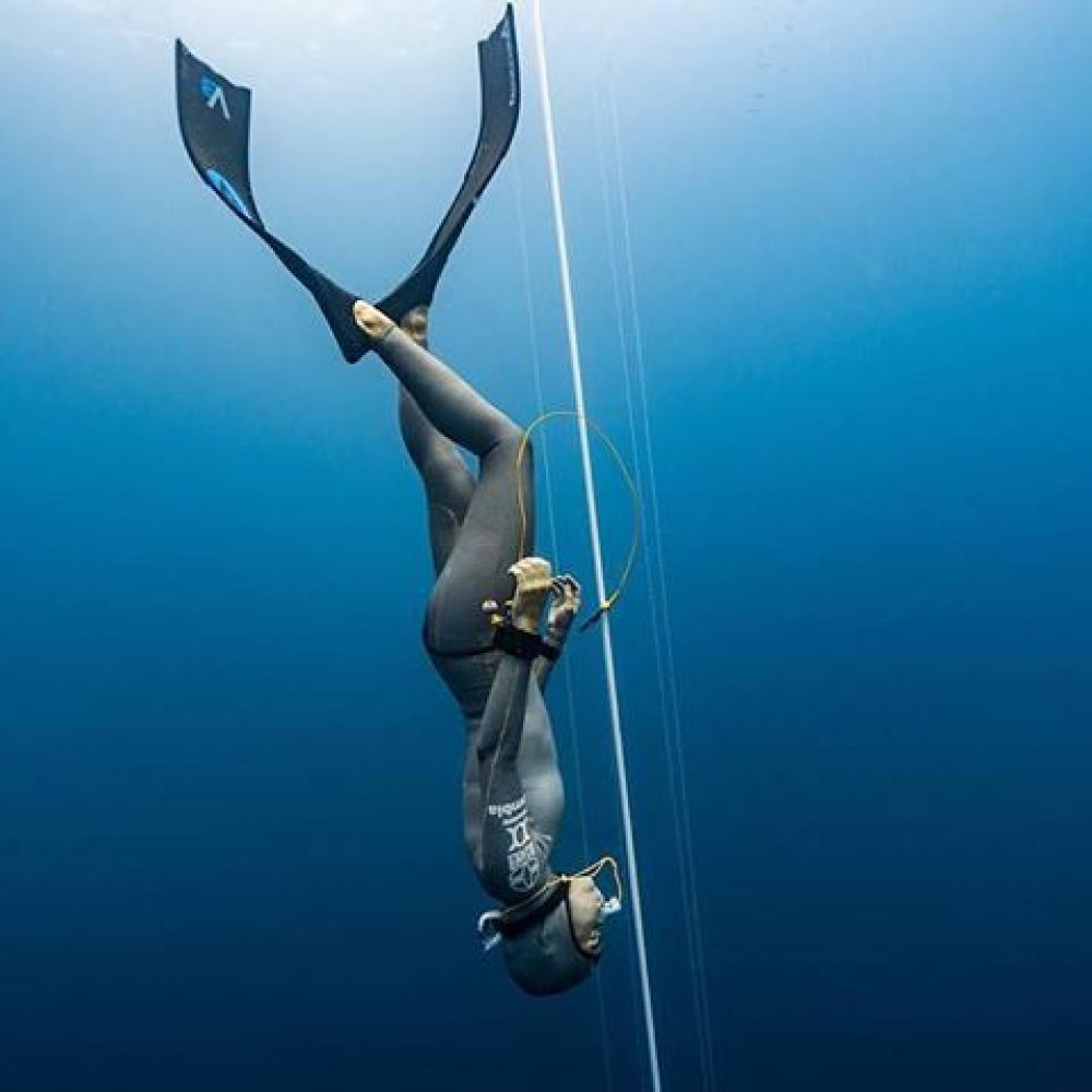 silver freediving wetsuit