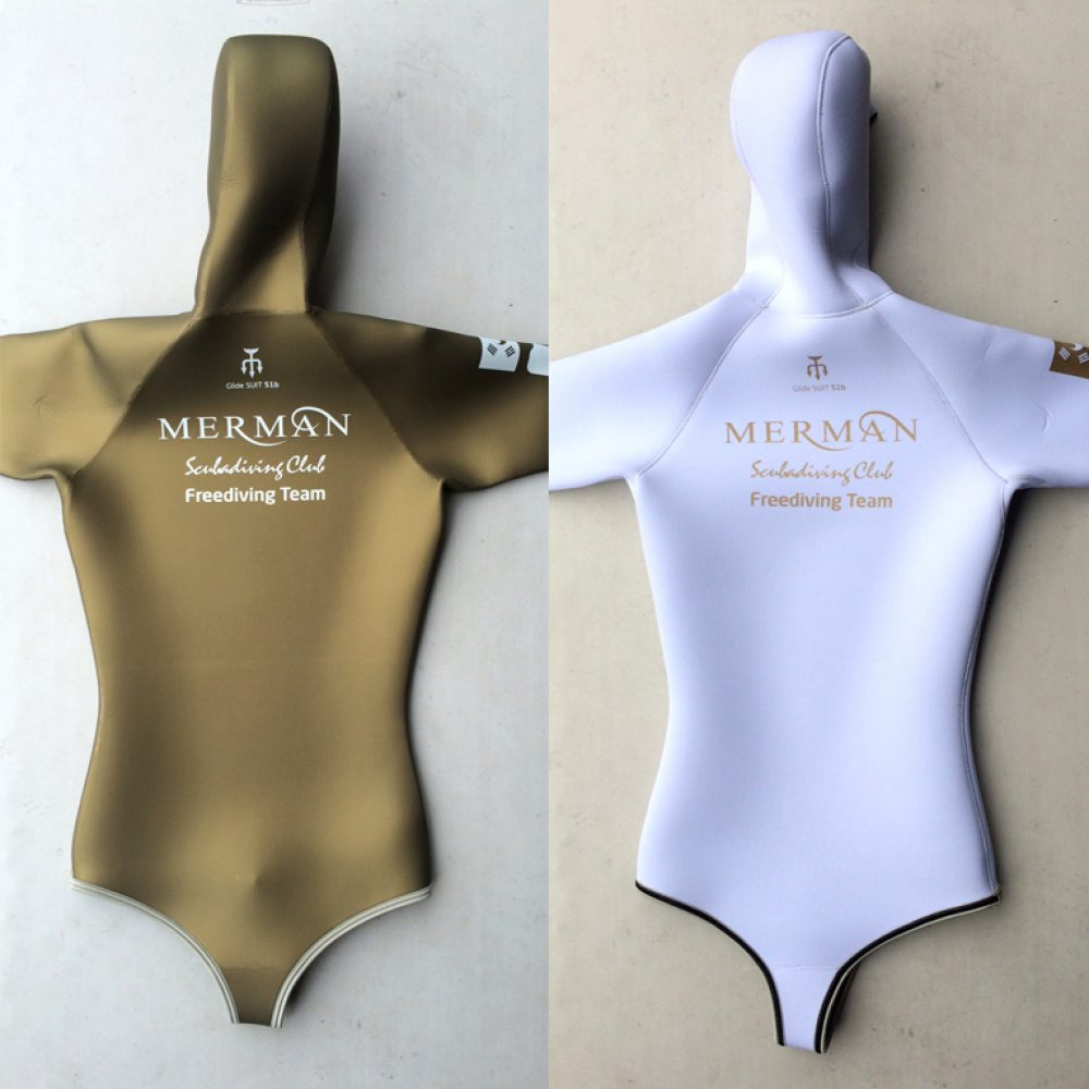 gold freediving wetsuit
