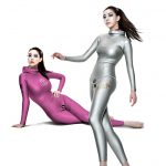 pink diving wetsuit